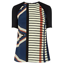 Buy Warehouse Blocked Stripe Top, Multi Online at johnlewis.com