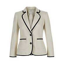 Buy Hobbs Samara Jacket, Stone/Navy Online at johnlewis.com