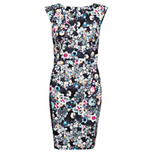 Buy French Connection Isola Bloom Floral Print Dress, Black / Multi Online at johnlewis.com
