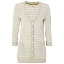 Buy White Stuff Striped Cardigan, Grey Online at johnlewis.com