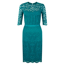 Buy Hobbs Albany Dress, Peacock Online at johnlewis.com
