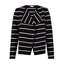 Buy Hobbs Zoe Cardigan, Navy Ivory Online at johnlewis.com