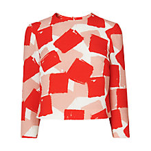 Buy L.K. Bennett Silk Nadine Printed Crop Top Online at johnlewis.com