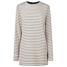 Buy L.K. Bennett Fleur Striped Tunic Top, Off White/Black Online at johnlewis.com