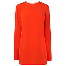 Buy L.K. Bennett Silk Fifi Colour Block Tunic, Red Online at johnlewis.com