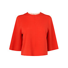 Buy L.K. Bennett Donna Cropped Knit Top, Red Online at johnlewis.com