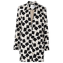 Buy L.K. Bennett Brianne Printed Coat, Black/Multi Online at johnlewis.com