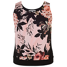 Buy Chesca Rose Print Jersey Cami Top, Apricot Online at johnlewis.com