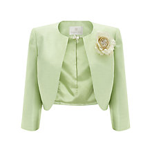 Buy Jacques Vert Corsage Bolero, Light Green Online at johnlewis.com