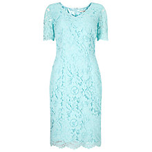 Buy Jacques Vert Opulent Lace Dress, Light Blue Online at johnlewis.com