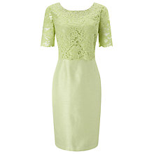 Buy Jacques Vert Layered Lace Dress, Pistachio Online at johnlewis.com
