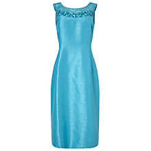 Buy Jacques Vert Embellished Yolk Dress, Mid Blue Online at johnlewis.com