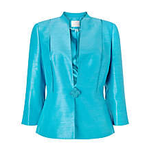 Buy Jacques Vert Ribbon Button Jacket, Mid Blue Online at johnlewis.com