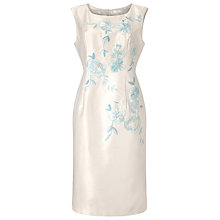 Buy Jacques Vert Embroidered Shift Dress, Cream/Multi Online at johnlewis.com