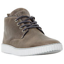 Buy Dune Storm Trooper Embossed Chukka Boots, Grey Leather Online at johnlewis.com