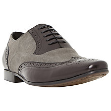 Buy Dune Raymond Combination Leather Lace-Up Brogues, Black Online at johnlewis.com