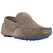 Buy Dune Bermuda Suede Slip-On Loafers, Grey Online at johnlewis.com