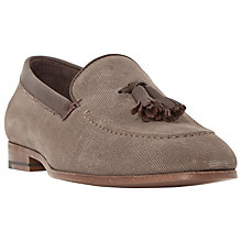 Buy Dune Rutland Textured Suede Tassle Slip-On Loafers, Taupe Online at johnlewis.com