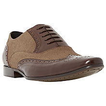 Buy Dune Raymond Combination Leather Lace-Up Brogues, Tan Online at johnlewis.com