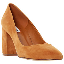 Buy Dune Abell Block Heeled Round Toe Court Shoes Online at johnlewis.com