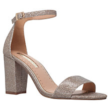 Buy Miss KG Pearl Mid Block Heel Sandals, Gold Online at johnlewis.com