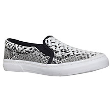 Buy Miss KG Kellie Flat Low Top Slip On Trainers, Beige/Multi Online at johnlewis.com