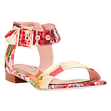 Buy Ted Baker Leeban Sandals, Pink Print Online at johnlewis.com