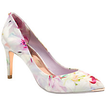 Buy Ted Baker Charmesa Floral Print Pointed Court Shoes, Neutral/Multi Leather Online at johnlewis.com