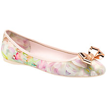 Buy Ted Baker Imme Bow Pumps, Floral Online at johnlewis.com