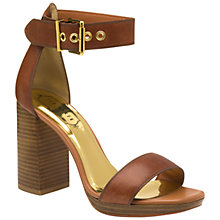 Buy Ted Baker Lorno Block Heeled Sandals, Tan Online at johnlewis.com