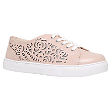 Buy Carvela Jemm Cut-Out Lace Up Trainers, Nude Online at johnlewis.com