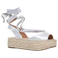 Buy KG by Kurt Geiger Marlo Woven Platform Sandals Online at johnlewis.com