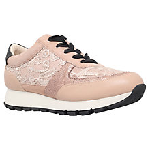Buy KG by Kurt Geiger Lacey Trainers, Nude Online at johnlewis.com