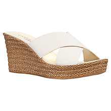 Buy Carvela Comfort Sabrina Wedge Heeled Sandals, Beige Online at johnlewis.com