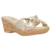 Buy Carvela Comfort Skylar Wedge Heeled Sandals, Gold Online at johnlewis.com