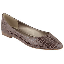 Buy John Lewis Pointed Toe Slip On Pumps, Natural Croc Online at johnlewis.com