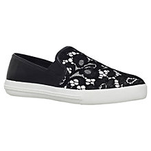 Buy KG by Kurt Geiger Laguna Slip On Trainers, Black/White Online at johnlewis.com