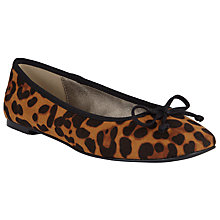 Buy John Lewis Square Toe Ballet Pumps, Leopard Online at johnlewis.com