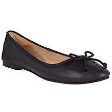 Buy John Lewis Leather Ballet Pumps, Black Online at johnlewis.com