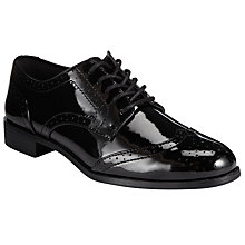 Buy John Lewis Lace Up Brogues, Black Patent Online at johnlewis.com