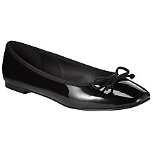 Buy John Lewis Square Toe Ballerina Pumps, Black Online at johnlewis.com