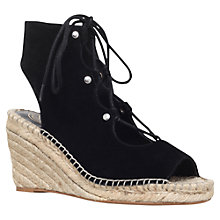 Buy KG by Kurt Geiger Marine Lace Up Wedge Heeled Sandals, Black Online at johnlewis.com