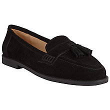 Buy John Lewis Suede Tassel Loafers, Black Online at johnlewis.com