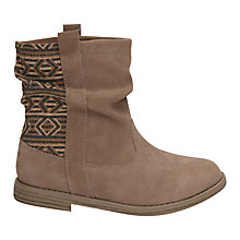 Buy TOMS Children's Laurel Suede Boots, Amphora Online at johnlewis.com