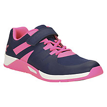 Buy Clarks Children's Trace Trainers, Pink/Navy Online at johnlewis.com