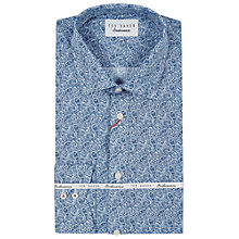 Buy Ted Baker Oysten Paisley Classic Fit Shirt, Navy/White Online at johnlewis.com