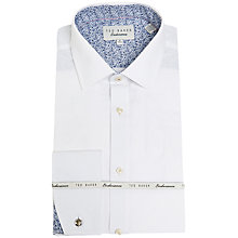Buy Ted Baker Abbot Double Cuff Shirt, White Online at johnlewis.com