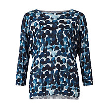 Buy Jigsaw Waterpool Spot Linen Knit, Blue Online at johnlewis.com