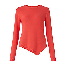 Buy Jigsaw Bias Linen Cut Jumper, Intense Coral Online at johnlewis.com