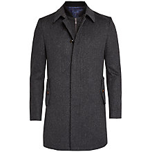 Buy Ted Baker Arizona Overcoat and Quilted Gilet, Charcoal Online at johnlewis.com